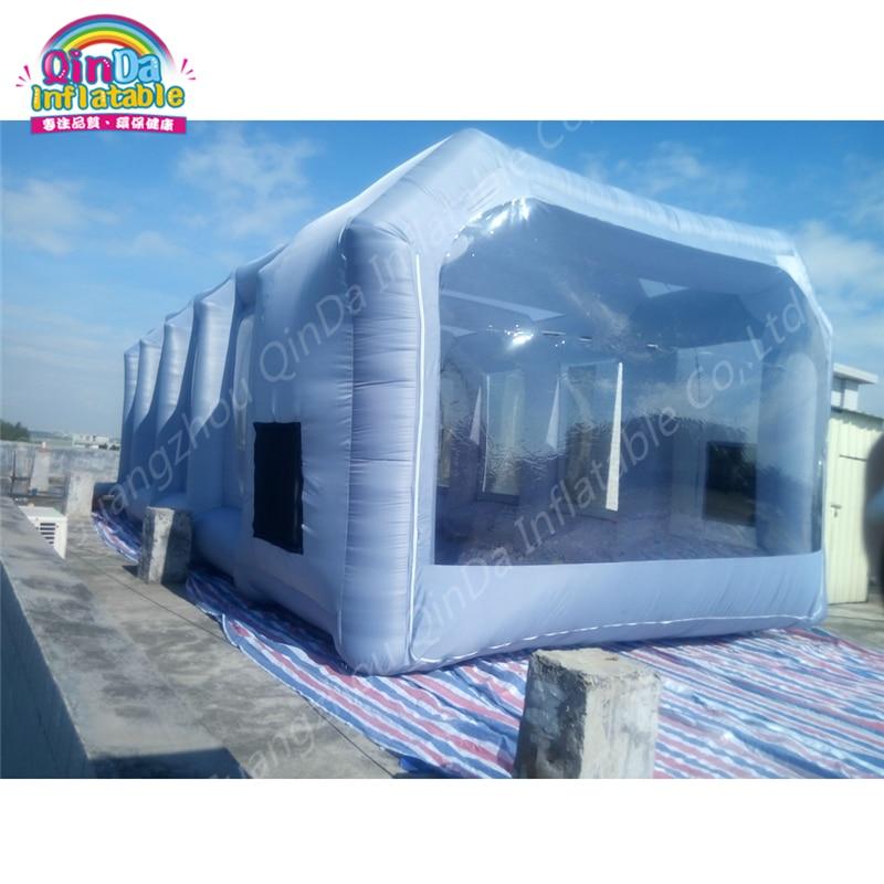 М 10 м * м 5 м * 3,5 м портативные кабины для краски, б/у распылительная кабина для продажи, головоломка надувная кабина для распыления краски авт...