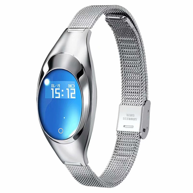 HTB1KT8.a4YaK1RjSZFnq6y80pXaV FROMPRO Women Fashion Band Z18 Smart bracelet Blood Pressure Heart Rate Monitor Pedometer Fitness Tracker Watch FOR Android IOS
