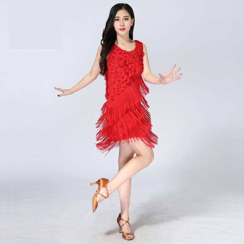New 2019 Latin Dance Dress Women/girls/lady New Sexy Fringe Salsa/ballroom/tango/cha Cha/rumba/samba/latin Dresses For Dancing