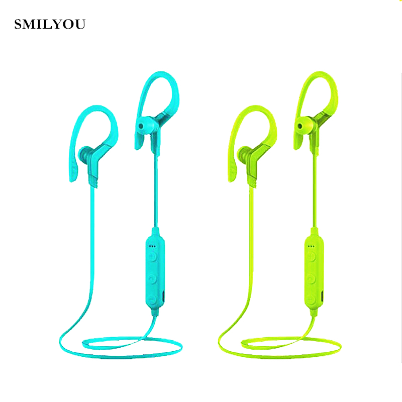 SMILYOU 4.2 bluetooth earphone wireless headphone IPX5 sweatproof 6hrs music time with mic for Xiaomi iPhone 7 Samsung s8 phone