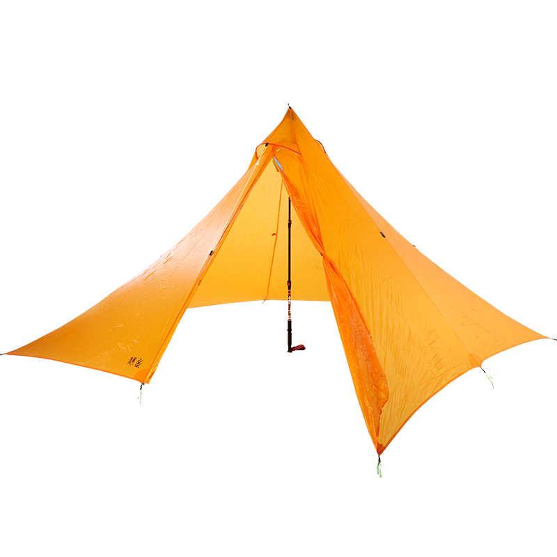 740 gramów 4 osoby 30D podwójne silnylon ASTA piramida arkusz na zewnątrz wysoko jakości namiot kempingowy