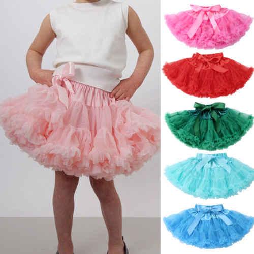 568abde03 Adjustable Princess Toddler Kids Girls Babys Fluffy Pettiskirt Tutu Tulle  Birthday Mini Skirt Dancewear Party For