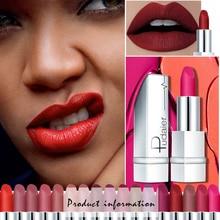 24 цвета бархат яркая помада Профессиональный макияж губ для губ долговременная помада водоотталкивающий увлажнитель оттенок Сексуальная красная помада