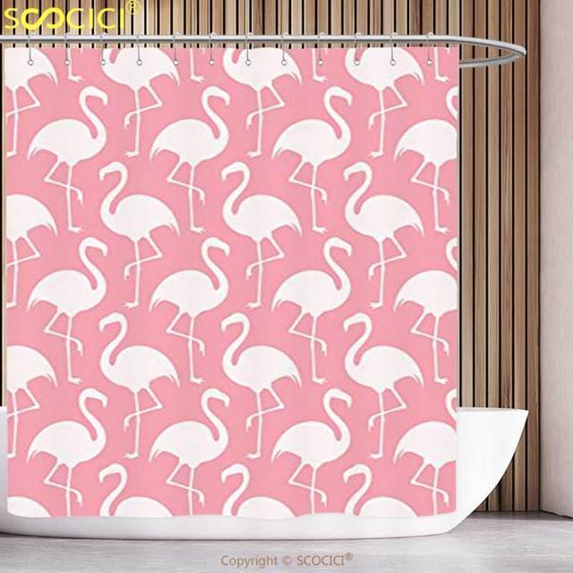 decorativo cortina de chuveiro flamingo decoração coleção de