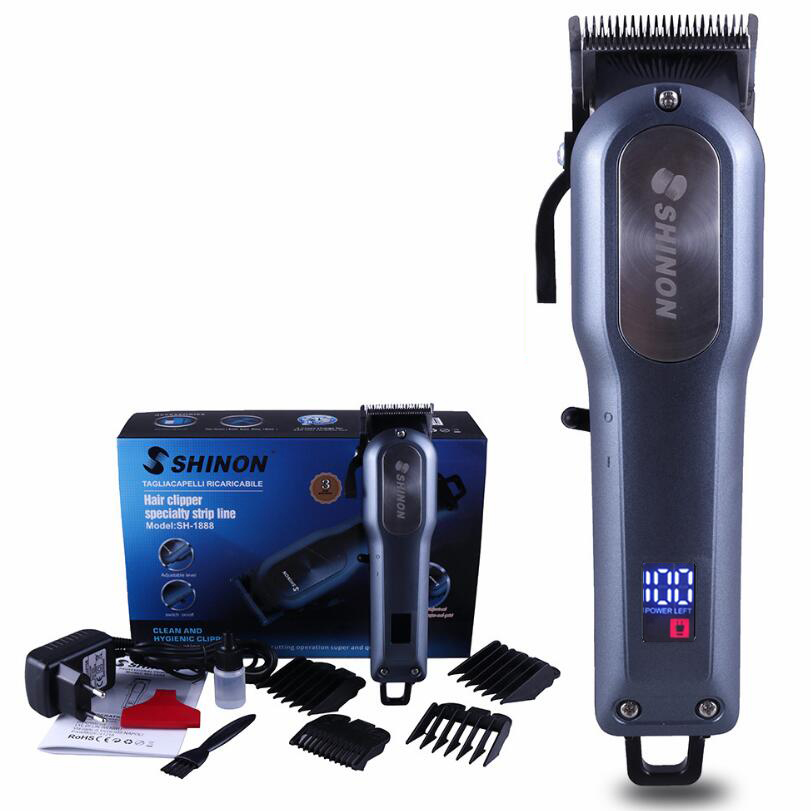 Professional LED Power Display Hair Trimmer Rechargeable Electric Hair Clipper Mens Cordless Haircut Stainless Steel BladeProfessional LED Power Display Hair Trimmer Rechargeable Electric Hair Clipper Mens Cordless Haircut Stainless Steel Blade