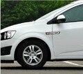 2 pares/lote frete grátis 3D etiqueta do carro de fibra de carbono Turn Signal Sticker Car Auto fibra adesivo de carro styling para Chevrolet AVEO