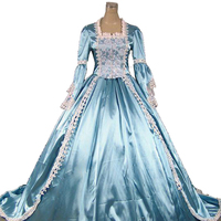 Top Sale Renaissance Fair Princess Cinderella Fairytale Ball Gown Dress Train Theater Clothing