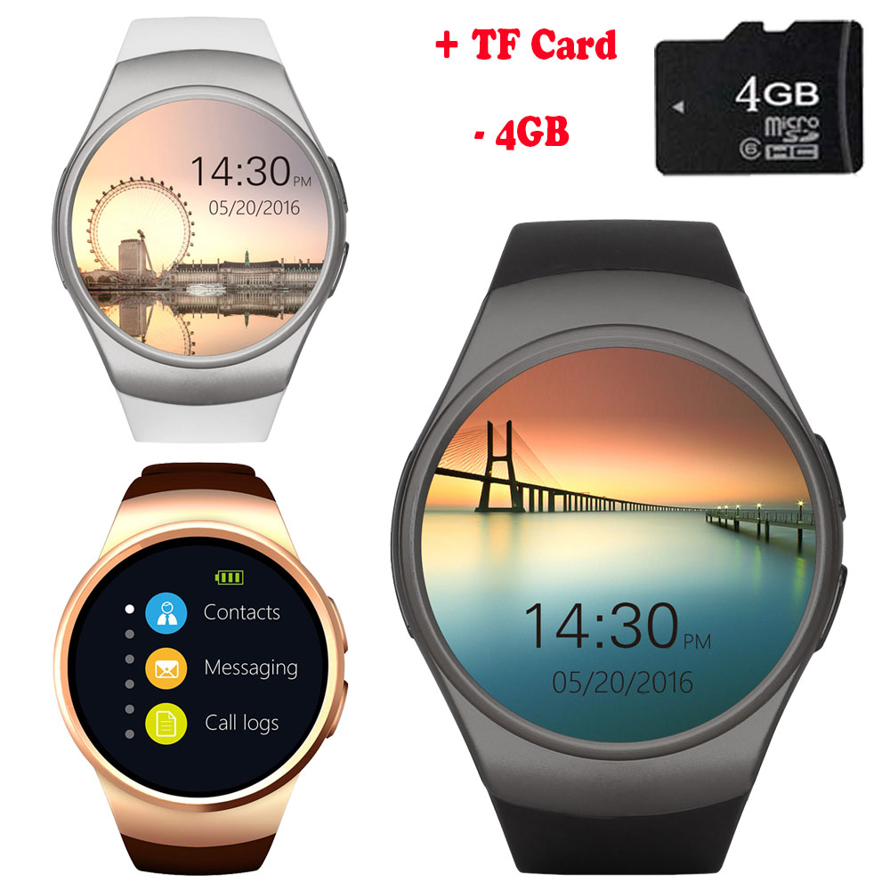 SKF KW22 Bluetooth Smart Watch Phone Support SIM TF Card Round Wristwatch Pedometer Heart Rate Monitor for Android Xiaomi IOS jaysdarel heart rate blood pressure monitor smart watch no 1 gs8 sim card sms call bluetooth smart wristwatch for android ios