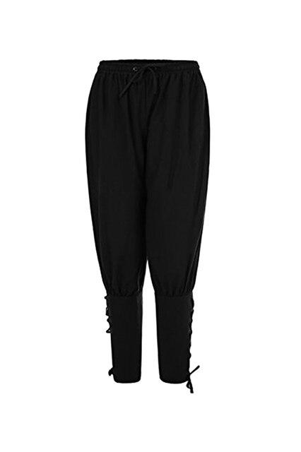 da84f1ed8c07 Adult Men Spring Summer Ankle Banded Pants Medieval Viking Navigator  Trousers Renaissance Gothic Pants Cosplay