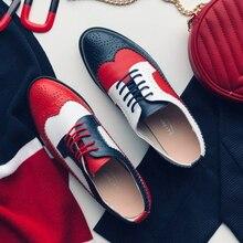 Donne oxford scarpe Primavera mocassini di cuoio genuini per la donna sneakers stringate femminile delle signore singole scarpe cinghia 2020 di estate scarpe