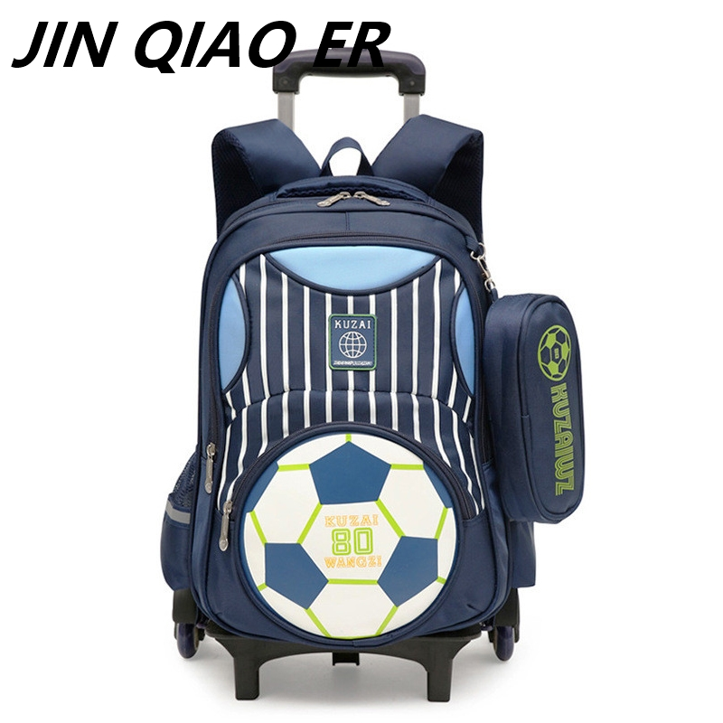Latest Kids school bags boys girls Trolley School Bag Luggage Backpack Removable Children School Bags With