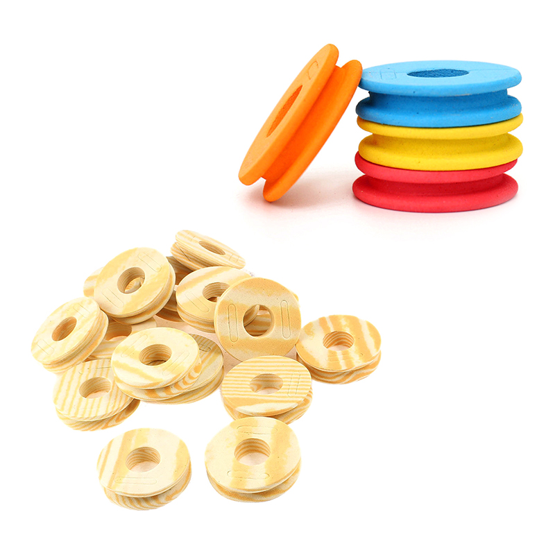 100pcs Round Shape Foam Fishing Winding Board Line Bobbin Spools Tools