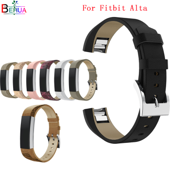 Leather Band For Fitbit Alta /Alta HR Tracker watch Replacement High Quality Genuine bracelet For Fitbit Alta /Alta HR watchband cool denim chain strap for fitbit alta smart watch frontier classic bracelet for fitbit alta hr trend wristband accessories