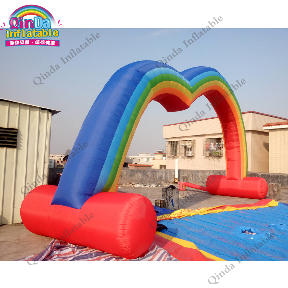 Popular Rainbow Shape Inflatable Advertising Archway 10m Sapn Cheap Inflatable Arch For Sale