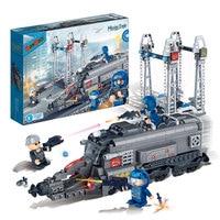 BanBao 6208 Super Police Energy Station Educational Building Blocks Model Toy Children Kids Friend Bricks Compatible With Legoin