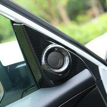 Apto Para Honda Civic 2016 2017 Molduras Interior Do Carro Porta Da Frente Triângulo Audio Speaker Capa Guarnição Etiqueta Styling 2 pçs/set