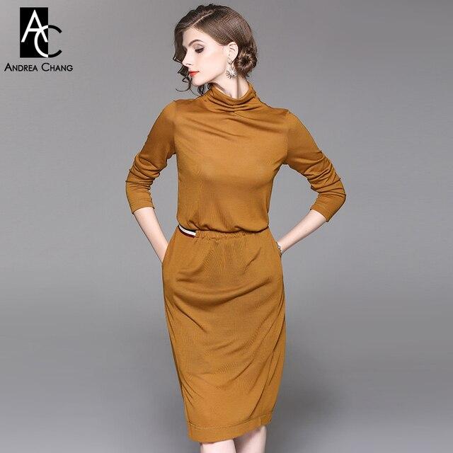 Kleid braun herbst