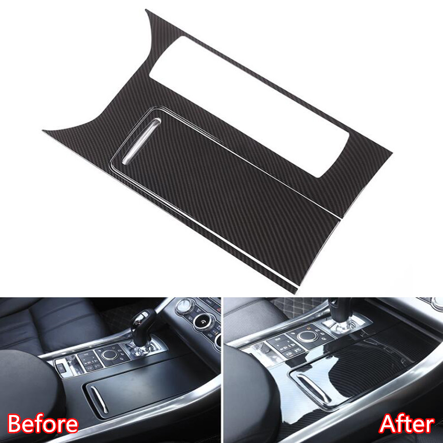YAQUICKA Car Central Console Gear Shift Box Panel Frame Trim Cover Sticker For Land Rover Range Rover Sport 2014-17 Car-styling carbon fiber grain abs gears shift panel trim cover frame decor sticker for chevrolet camaro 2017 car styling