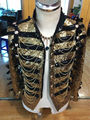 2016 New Arrive Plus Size Glitter Gold Sequined Jacket For Men Customized Bright Blazer Male Singer Bar Costume Nightclub Outfit