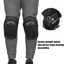 1 Pair Professional Knee Brace Support Pads with Adjustable Straps Safe EVA Gel Cushion PVC Shell Knee Pads for Heavy Duty Work серьги taya taya mp002xw0fyhn