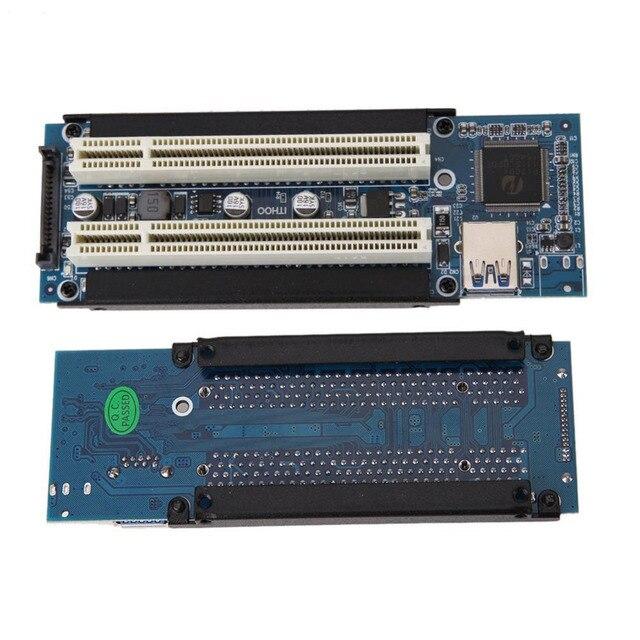 Высокое качество PCI Express X1 двойной подъемник PCI Продлить адаптера с 1 м USB3.0 кабель для WIN2000/XP/Vista/Win7/Win8/LINUX