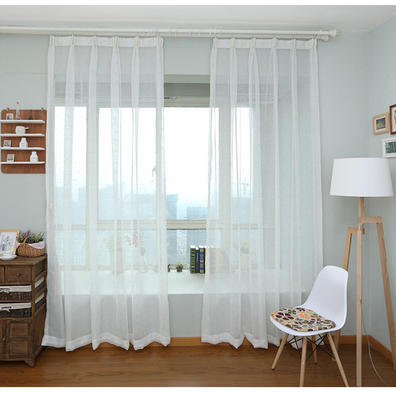 White voile curtains lined curtain menzilperde net for Cortinas para cocina modernas