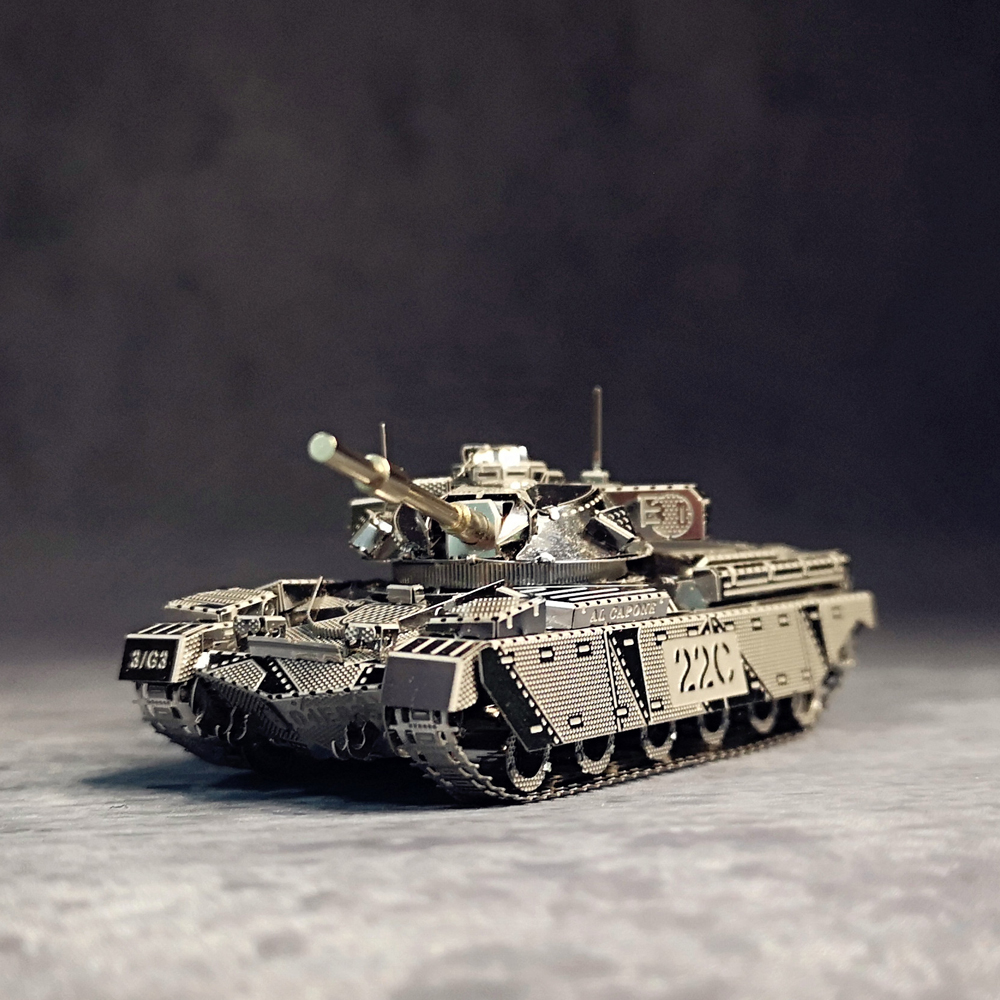 CHIEFTAIN TANK MK50 Model 1:100 HKNANYUAN 3d Metal <font><b>Puzzle</b></font> Creative toys Developing hands-on ability DIY Exercise your mind