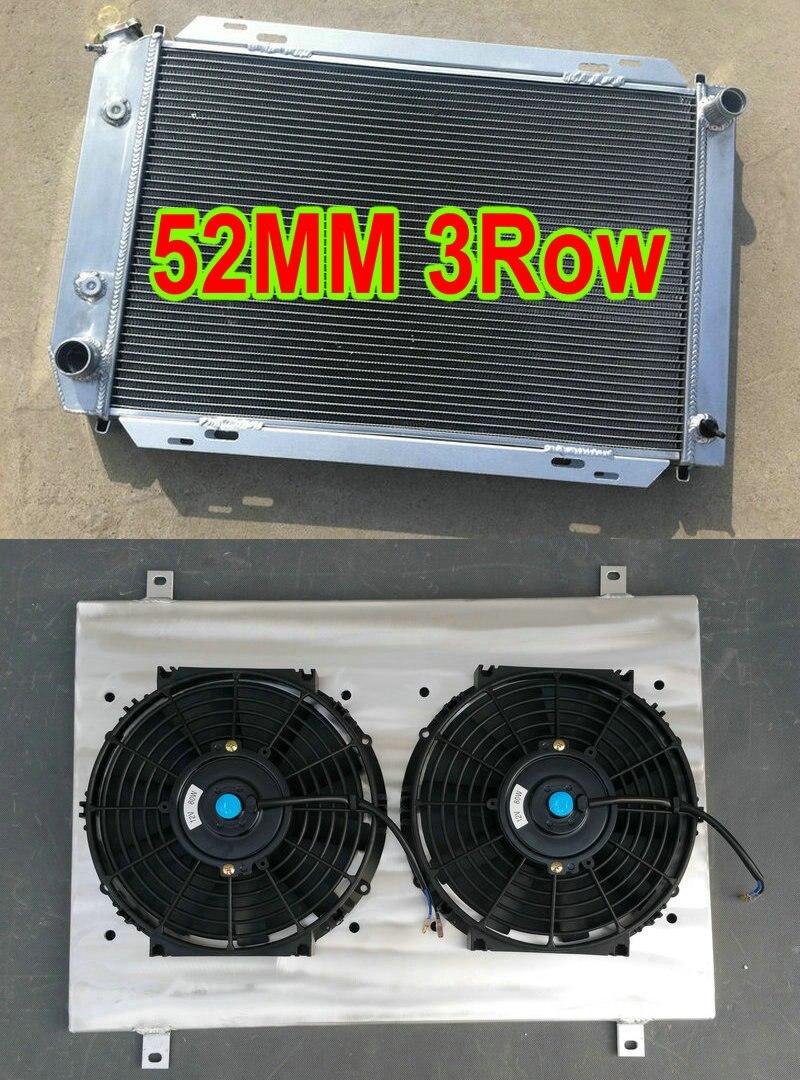 For FORD MUSTANG GT LX 5.0L V8 302 1979-1993 Aluminum radiator /& shroud /& fans