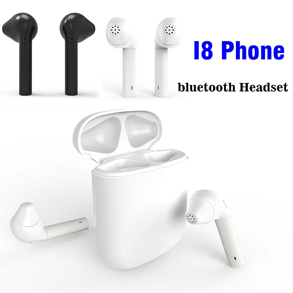 HBQ i8s twins mini Wireless Earphones bluetooth Earbuds Earphone In-ear headset contain Charger mobile power For iphonex huawei