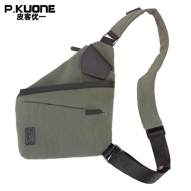 PKUONE Summer Fahion And Portable Waterproof Unisex Nylon Chest Back Pack Male Messenger Bag Waist Pack Bags Causal Shoulder Bag women s nylon multifunction travel bags funny chest pack men waist pack hiqh quality waist bag unisex shoulder bag bolso cintura