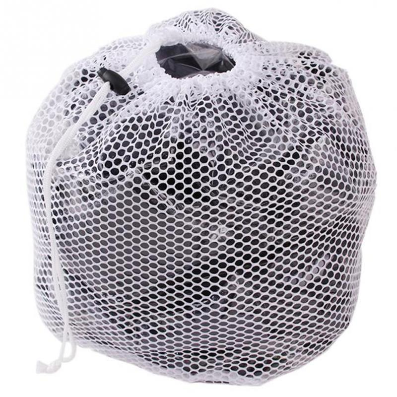 Laundry Mesh Bags Drawstring Net Laundry Saver Mesh Washing Pouch Strong Washing Machine Thicken Net Bag(China)