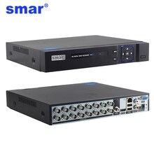 Smar 16CH 5in1 AHD DVR prend en charge les caméras IP analogiques CVBS TVI AHD HD P2P nuage H.264 VGA HDMI enregistreur vidéo RS485 Audio