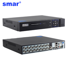Видеорегистратор Smar AHD 5 в 1, 16CH, Поддержка CVBS TVI AHD, аналоговые IP камеры HD P2P Cloud H.264 VGA HDMI, RS485 аудио