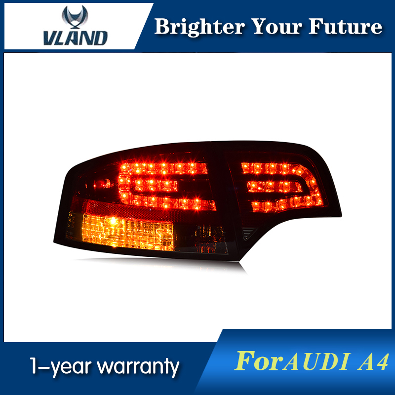 Tail Lamp For A4 B7 Tail Lights 2005 2006 2007 2008 Rear Light DRL+Turn Signal+Brake+Reverse LED light hireno tail lamp for chrysler 300c 2005 2006 2007 2008 2009 taillight rear lamp parking brake turn signal lights