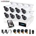 Hview 8CH CCTV Camera System1080P AHD DVR 8PCS CCTV Cameras 1.0 Megapixels Enhanced IR Security Camera System with 1TB HDD