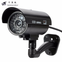 TRINIDAD WOLF waterproof indoor and outdoor fake camera virtual closed circuit TV security surveillance camera night CAM LED