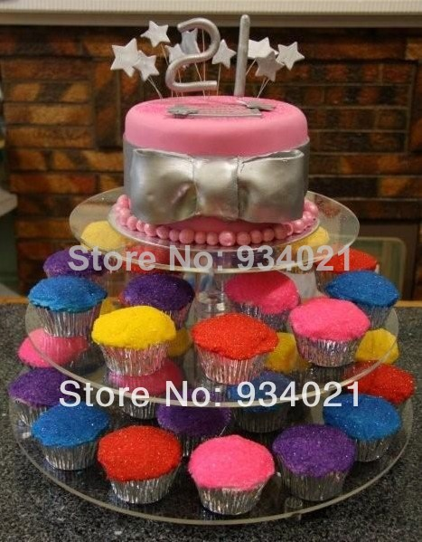 3 Tier Wedding Favors And Gifts Cake Stand With Lights Cake Pop ...