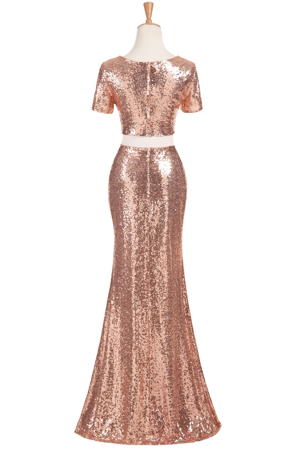 Rose gold bridesmaid dresses long sequins robe de demoiselles d rose gold bridesmaid dresses long sequins robe de demoiselles d honneur pour mariage 2017 high quality wedding party dresses in bridesmaid dresses from ombrellifo Image collections