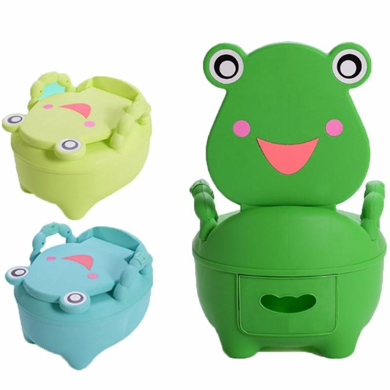Baby Plastic Toilet Cartoon Cute Frog Drawer Potty Girls Boy Portable Potty Seat Folding Chair Training Potty Children's Toilet