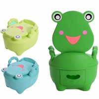 Baby Plastic Toilet Cartoon Cute Frog Drawer Potty Girls Boy Portable Potty Seat Folding Chair Training Potty Children's Toilet
