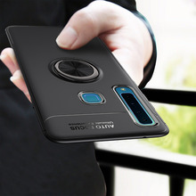 Case For Samsung Galaxy A50 Silicone Ring Carbon Fiber Soft Back Cover For Samsung A50 A70 A40 A10 Case Phone Funda Coque Etui for samsung galaxy a70 case silicone anti slip carbon fiber soft tpu back cover for samsung a70 2019 case funda slim texture