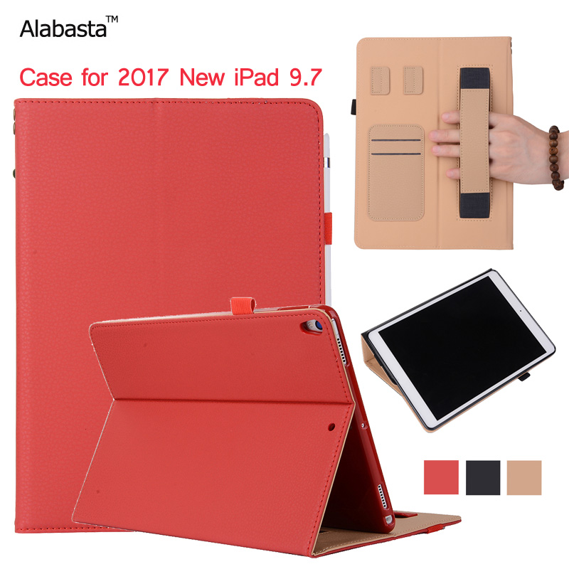Alabasta Case for iPad 9 7 2017 Model A1822 A1823 Apple Case Learher Silicone protection Flip