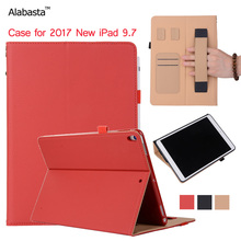 Alabasta Case for iPad 9.7 2017 Model A1822 A1823 Apple Case Learher + Silicone protection Flip Stand Cover Smart Case iPad 2017