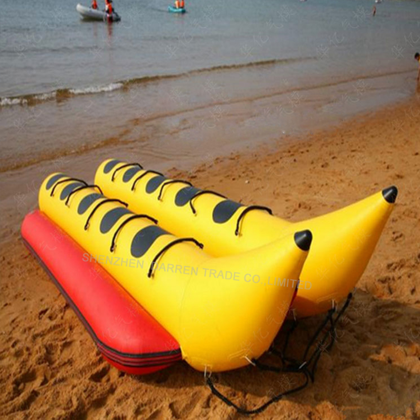 1PC Banana boat on water Inflatable water fish water banana boat large surf water inflatable toys Double row of 6 seats