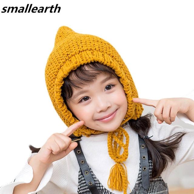 New Autumn Winter Baby Boy Girl Crochet Knitted Hat Warm Cap Children Wool  Hat Caps Kids Handmade Skullies Beanies Photo Props 68013d37b8a