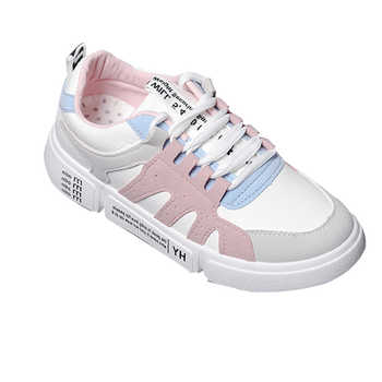 Shoes woman 2019 thick bottom Sewing white platform sneakers tenis feminino student casual canvas women's shoes Women sneakers - DISCOUNT ITEM  44% OFF All Category