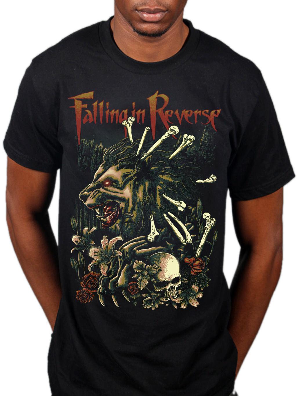 Official Falling In Reverse Wilderness T-SHIRT GRUPPO ROCK VENTAGLIO Merchandise