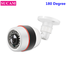 SUCAM 180 Degree Wide Angle View Analog Fisheye Camera 1.7mm Lens 1.3MP 2.0MP Night Vision Security AHD Camera With OSD Menu