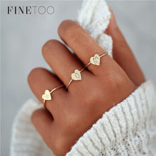 2018 New Heart Shape A-Z Initial Ring Silver Gold Color Stacking Personalized Letter Rings for Women Bague Femme Name Jewelry(China)