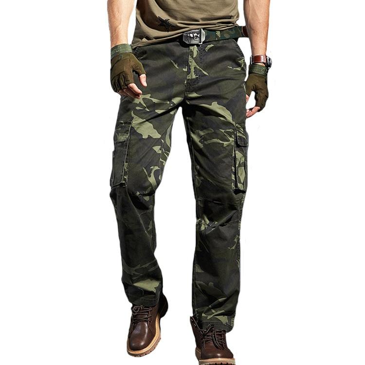 Cargo Hosen Military Tactical Camo Hose Männer Baumwolle Pantalon Homme Arbeits Hosen Insgesamt Hohe Qualität Jogger Camouflagetrouser